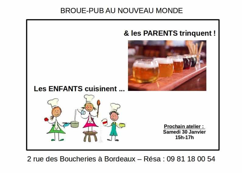 Samedi 30 janvier atelier de cuisine pour les enfants et - Atelier de cuisine bordeaux ...
