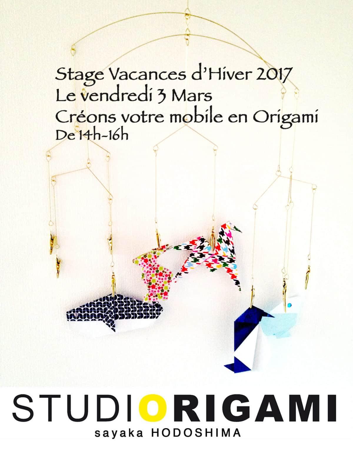 Stage d origami vacances d hiver 2017 enfant - Vacances fevrier 2017 bordeaux ...